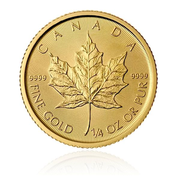 Maple Leaf Or 1/4 Once revers